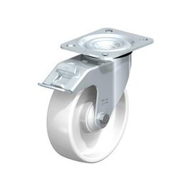 L-PO Zinc plated steel stamping, with Plate Mounting, Standard Bracket Series  Type: K-FI - Ball Bearing with Stop-Fix Brake