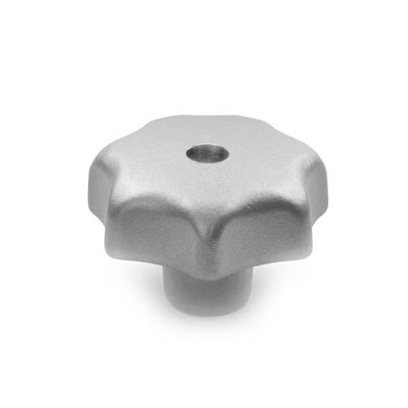 DIN 6336 Stainless Steel Star Knobs, with Tapped Through or Tapped Blind Bore Type: D - With tapped through bore