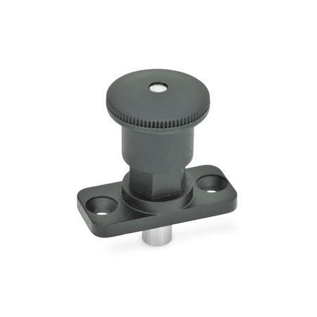 GN 822.8 Miniposicionadores de indexado de zinc fundido a presión, con bloqueo y sin bloqueo, con mecanismo de cierre oculto, placa de montaje Tipo: C - Con bloqueo