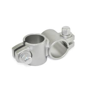 GN 132.5 Stainless Steel Two-Way Connector Clamps