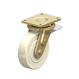 LS-GSPO Rodajas giratorias de acero con rueda de nylon y hierro fundido de servicio pesado, con placa de montaje, serie de construcción soldada Type: K-ST