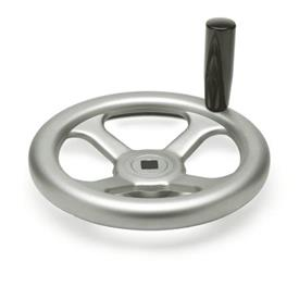 GN 227.2 Stainless Steel Spoked Handwheels, with or without Revolving Handle Bore code: V - With square<br />Type: D - with revolving handle