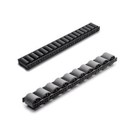 EN 646.1 Plastic Conveyor Roller Tracks for Roller Track Assemblies