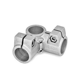 GN 196 Aluminum Angle connector clamps Identification No.: 2 - with 2 Stainless Steel-clamping screws DIN 912<br />Finish: BL - Blank
