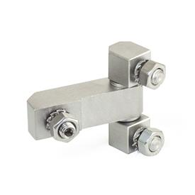 GN 129.2 Stainless Steel Hinges, Consisting of Three Parts