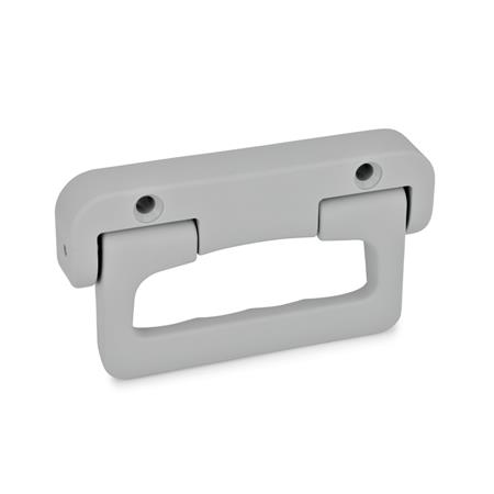 EN 825.1 Technopolymer Plastic Folding Handles, with Spring-Loaded Return Farbe: GR - Gray, RAL 7040, matte finish