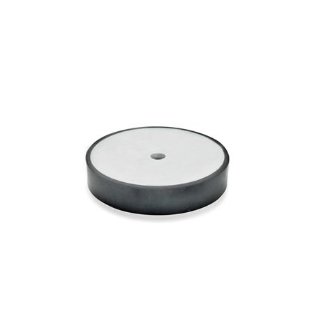 GN 438 Vulcanized Rubber Spacer Disks, with Steel Plate Type: A - Mounting with fixing hole