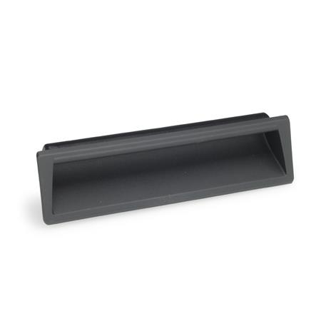 EN 731.1 Technopolymer Plastic Gripping Trays, Clip-In Type Color: SG - Black-gray, RAL 7021, matte finish