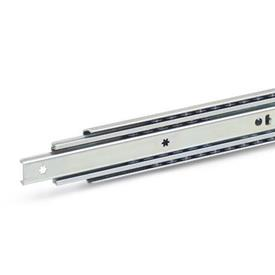 GN 1420 Guías telescópicas de acero, con extensión completa, capacidad de carga de hasta 290 lbf