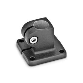 GN 162 Abrazaderas para conectores de placa base, aluminio Acabado: SW - Negro, RAL 9005, acabado texturizado