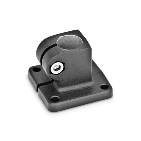 GN 162 Aluminum,  Base Plate Connector Clamps Finish: SW - Black, RAL 9005, textured finish
