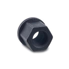 DIN 6331 Steel Hexagon Nuts, with Flange