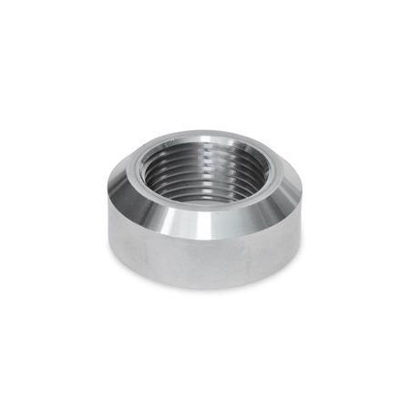 GN 7490 Casquillos soldables de acero, con o sin collar Material: ST - Acero Tipo: A - Con chaflán