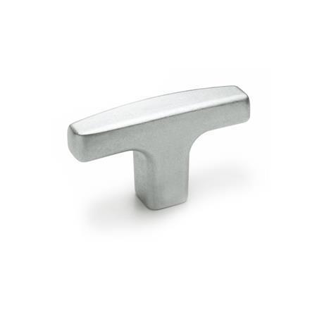 GN 563.2 Jaladeras en T de aluminio, con orificio roscado o ciego Acabado: BL - Sin troquelar