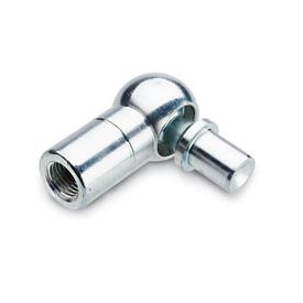 DIN 71802 Steel Angled Ball Joints, with Plain Shank