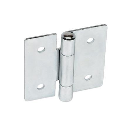 GN 136 Bisagras de chapa metálica de acero, cuadrado o extendido verticalmente Material: ST - Acero Tipo: B - Con agujeros pasantes