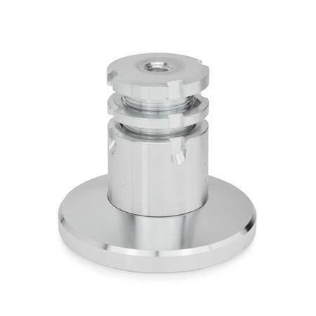 GN 360 Juegos de nivelación de acero, con base Material: ST - Acero Tipo: B - Con contratuerca Foot&#160;diameter d&#160;<sub>1</sub>: 79