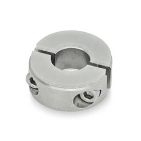 GN 7072.3 Stainless Steel Split Shaft Collars, with Damping Washer