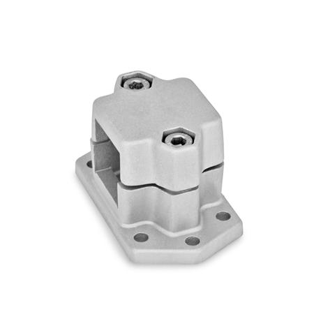 GN 147.3 Aluminum Flanged Connector Clamps, Split Assembly, with 6 Mounting Holes Finish: BL - Acabado liso