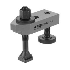 NO. 6314 V Steel Adjustable Plain Clamps, with T-Slot Bolt