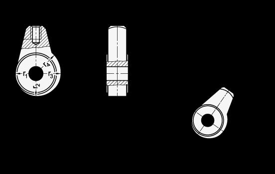 GN 919 Núcleos con leva excéntrica, de acero boceto