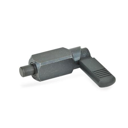 GN 612.3 Steel Square Cam Action Indexing Plungers, Lock-Out, Weldable Type: B - With plastic sleeve