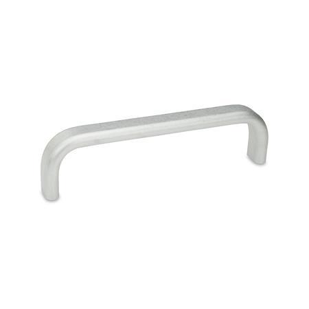 GN 668 Jaladeras en «U» para gabinete de aluminio, con agujeros roscados o placas superiores de montaje Tipo: A - Montaje por la parte posterior (orificio ciego roscado) Acabado: BL - Sin troquelar