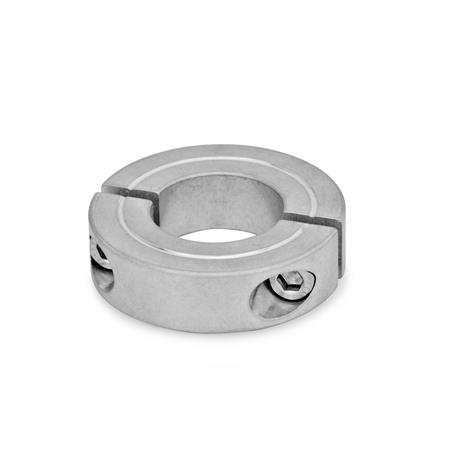 GN 707.2 Steel / Aluminum Split Shaft Collars Material: AL - Aluminum