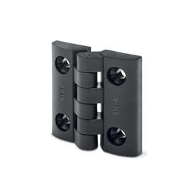 EN 151.5 Technopolymer Plastic Hinges Type: SH - 2x2 bores for countersunk screws