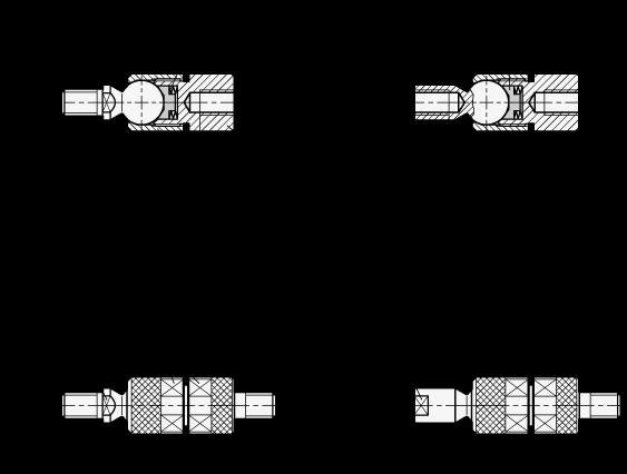 GN 782 Rótulas axiales de acero boceto