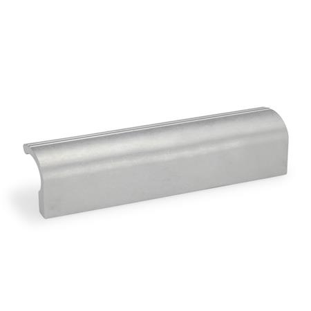 GN 730 Extruded Aluminum Ledge Handles, with Tapped Holes Finish: BL - Plain finish