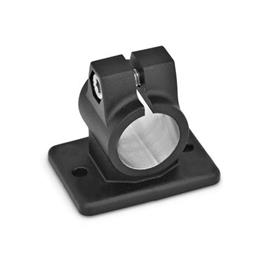 GN 146.3 Aluminum, Flanged Connector Clamps Finish: SW - Black, RAL 9005, textured finish