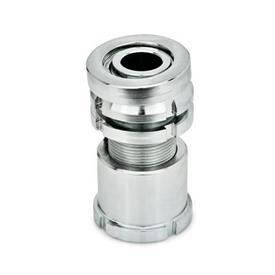 GN 350.5 Juegos de nivelación de acero, con arandela esférica, con contratuerca Material: ST - Acero