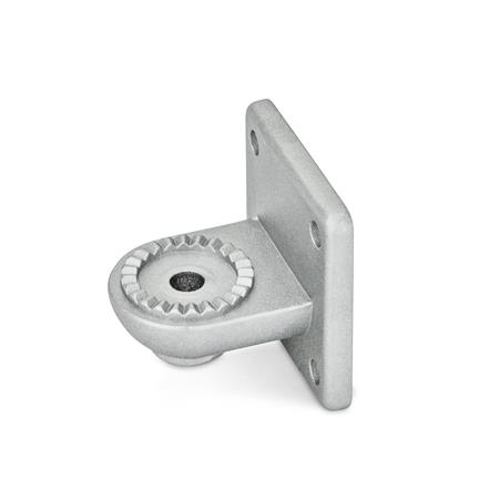 GN 272 Aluminum, Swivel Clamp Connector Bases Type: AV - with male serration Finish: BL - Plain finish