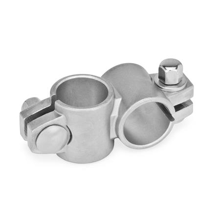 GN 132.5 Stainless Steel Two-Way Connector Clamps Type: A - without sealing