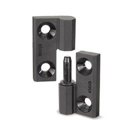 EN 337.1 Technopolymer Plastic Lift-Off Hinges, with Countersunk Thru Holes