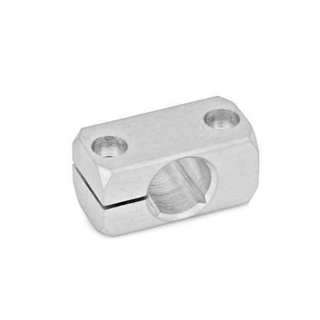 GN 477 Bloques de montaje de mini-abrazadera, de aluminio Acabado: MT - Acabado liso, pulido mate