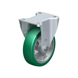 BH-ALST Steel Fixed Casters, with Medium Heavy Duty Brackets Type: K - Ball Bearing