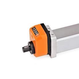 GN 296 Juegos de instalación, para indicadores de posición usados en actuadores lineales cuadrados GN 291.1 Identificación núm.: 1 - Para indicadores de posición mecánicos EN 953 / EN 954 / EN 955