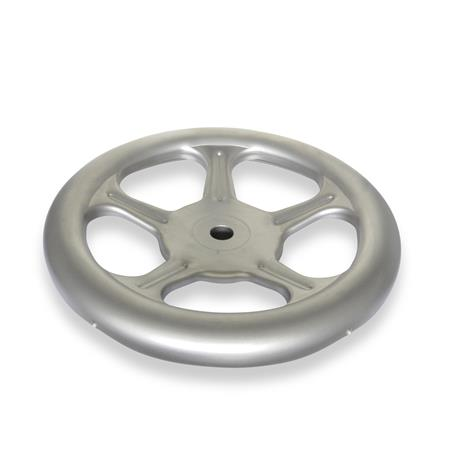GN 228 Stainless Steel AISI 316L Sheet Metal Spoked Handwheels, with or without Revolving Handle Material: A4 - Stainless steel  Bore code: B - Without keyway Type: A - Without handle