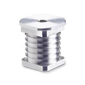 GN 992 Aluminum Threaded Tube Ends, Round or Square Type  Bildzuordnung: V