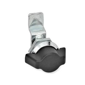 GN 115.1 Zinc Die-Cast Mini Cam Latches / Cam Locks Material: ZD - Zinc die-cast<br />Type: SK - Operation with wing knob