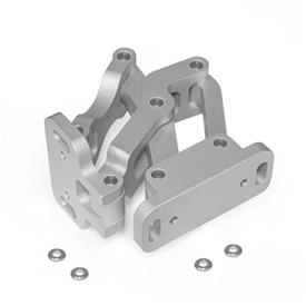 GN 7243 Aluminum Multiple-Joint Hinge, Concealed, with Opening Angle of 120°