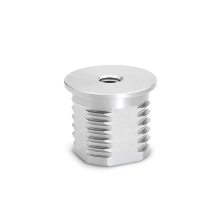 GN 992.5 Stainless Steel Threaded Tube Ends, Round or Square Type Bildzuordnung: D