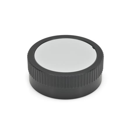 GN 736.1 Aluminum Knurled Control Knobs, with or without Revolving Handle, with Disposition for Scale Type: A - Without handle