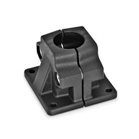 GN 165 Aluminum Base Plate Connector Clamps Finish: SW - Black, RAL 9005, textured finish