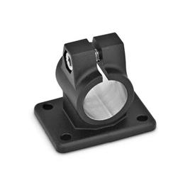GN 146 Aluminum Flanged Connector Clamps Finish: SW - Black, RAL 9005, textured finish