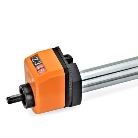 GN 295 Juegos de instalación, para indicadores de posición usados en actuadores lineales GN 291, GN 292, GN 293, GN 391 Identificación núm.: 1 - Para indicadores de posición mecánicos EN 953 / EN 954 / EN 955