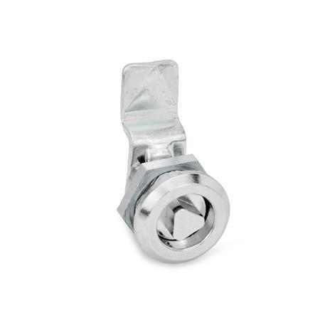 GN 115.1 Zinc Die-Cast Mini Cam Latches / Cam Locks Material: ZD - Zinc die-cast Type: DK - Operation with triangular spindle (DK6.5)