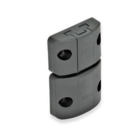 EN 449 Technopolymer Plastic Snap Door Latches Type: A - Snap latch without hook, without finger handle<br />Color: SW - Black, matte finish